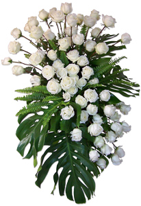 Opulence - White Rose Spray in Dallas TX, Dr Delphinium Designs & Events