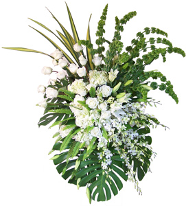 Exquisite Tribute - White Flower Spray in Dallas TX, Dr Delphinium Designs & Events