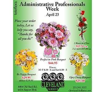 Secretaries Week Flowers Delivery Mobile AL - Cleveland ...
