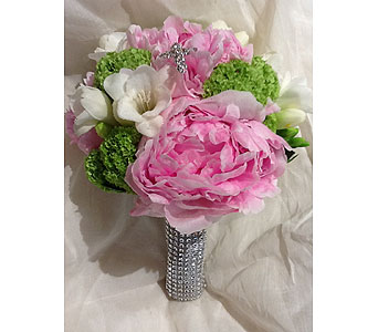 Communion Bouquet Peony in Massapequa Park NY, Bayview Florist & Montage  1-800-800-7304