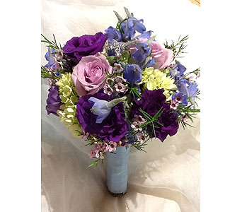 Communion-Bouquet-Blue in Massapequa Park NY, Bayview Florist & Montage  1-800-800-7304