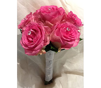 communion-bouquet-pink in Massapequa Park NY, Bayview Florist & Montage  1-800-800-7304
