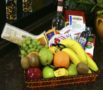 Ultimate Fruit & Gourmet Basket in Reno NV, Bumblebee Blooms Flower Boutique