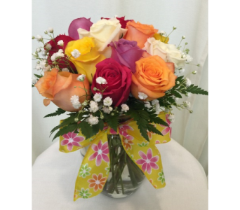 Rainbow of Roses in Titusville FL, Floral Creations By Dawn