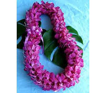 Double Purple Dendro Lei in Santa Clara CA, Citti's Florists