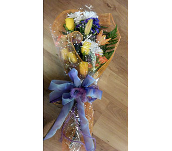Sunny Wrapped Flowers in Sanford FL, Sanford Flower Shop, Inc.