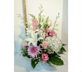 pastel dreams basket in Wellington FL, Wellington Florist