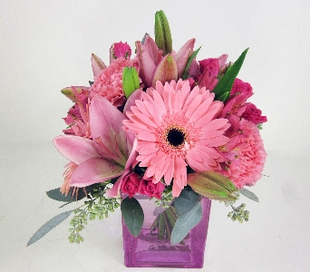 Huddart Pink Cube Bouquet in Salt Lake City UT, Huddart Floral