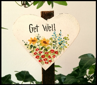 Get Well Keepsake Heart in Yorba Linda CA, Garden Gate