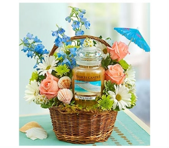 Yankee Candle Sand and Sun Basket in Bradenton FL, Ms. Scarlett's Flowers & Gifts