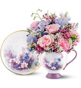 Lena Liu Butterfly Teacup Bouquet