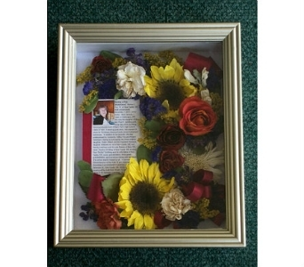8x10 Memorial Shadowbox in Middletown DE, Forget Me Not Florist & Flower Preservation