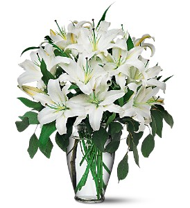 Perfect-White-Lilies in Denton TX, Crickette's Flowers & Gifts