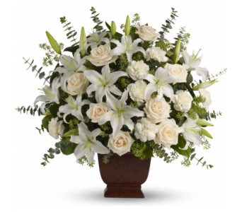 Loving Lilies and Roses Bouquet in Norristown PA, Plaza Flowers