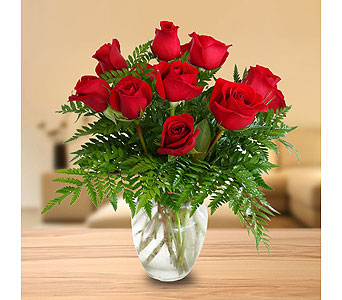 Special - Dozen Roses In Vase in Dallas TX, In Bloom Flowers, Gifts and More