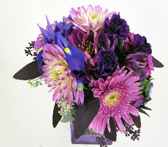 Huddart Purple Cube in Salt Lake City UT, Huddart Floral