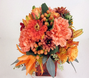 Huddart Orange Cube in Salt Lake City UT, Huddart Floral