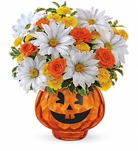 Happy Halloween by Teleflora in North Syracuse NY, The Curious Rose Floral Designs
