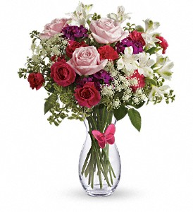 Pink Butterfly Bouquet by Teleflora in London ON, Lovebird Flowers Inc