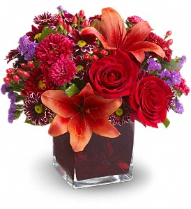 Teleflora's Autumn Grace in Mount Morris MI, June's Floral Company & Fruit Bouquets