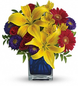Teleflora's Blue Caribbean in The Woodlands TX, Botanical Flowers and Gifts