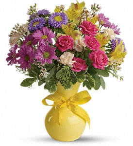 Teleflora's Color It Happy in Odessa TX, A Cottage of Flowers