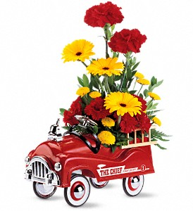 Teleflora's Fire Engine Bouquet in Houston TX, Village Greenery & Flowers
