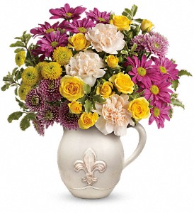Teleflora's French Fancy Bouquet in Redwood City CA, A Bed of Flowers