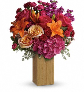 Teleflora's Fuchsia Fantasy in North Syracuse NY, The Curious Rose Floral Designs