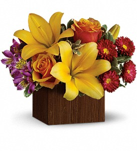 Teleflora's Full of Laughter in Oakland MD, Green Acres Flower Basket