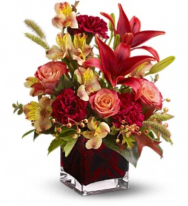 Teleflora's Indian Summer in Dubuque IA, New White Florist