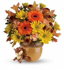 Teleflora's Send a Hug Fetching Fall Bouquet in Chicago IL, The Flower Cottage