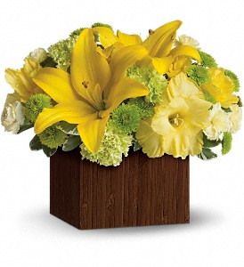 Teleflora's Smiles for Miles in Oakland MD, Green Acres Flower Basket