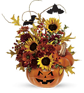 Teleflora's Trick & Treat Bouquet in Marshfield MA, Flowers by Maryellen
