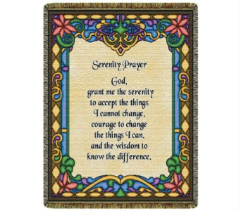 Throw - Serenity Prayer (Stained Glass) in Bellville OH, Bellville Flowers & Gifts