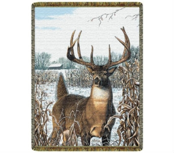 Throw - White Tail Deer in Bellville OH, Bellville Flowers & Gifts