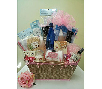 Pampered diva spa basket in Charlotte NC, Wilmont Baskets & Blossoms