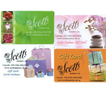 Our Gift Card in Lincoln NB, Scott's Nursery, Ltd.
