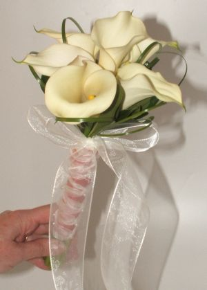 Bridesmaid bouquet with mini callas in Salisbury MD, Kitty's Flowers