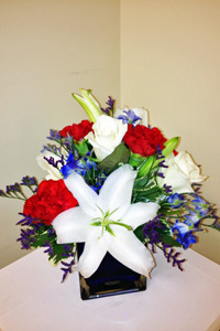 4th of July cube in Naples FL, Gene's 5th Ave Florist