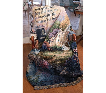 Church in the Country Tapestry Throw in Tullahoma TN, Tullahoma House Of Flowers