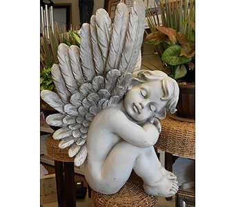 Sitting Cherub Angel$150 in Westerville OH, Reno's Floral