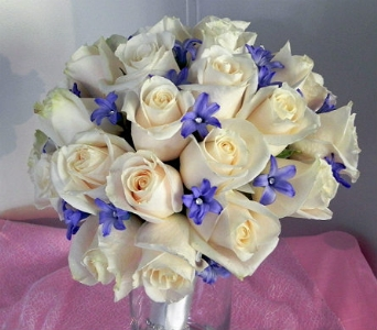 Vendella roses & Hyacinths in Nosegay in Perry Hall MD, Perry Hall Florist Inc.
