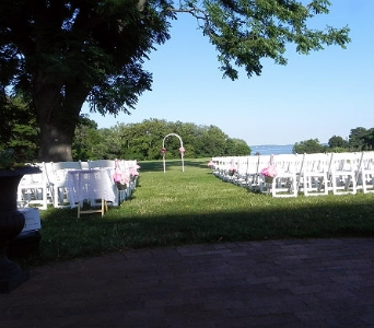 Ceremony at Swan Harbor Farms in Perry Hall MD, Perry Hall Florist Inc.