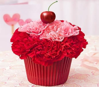 Cupcake In Bloom- Red in Manhattan KS, Westloop Floral