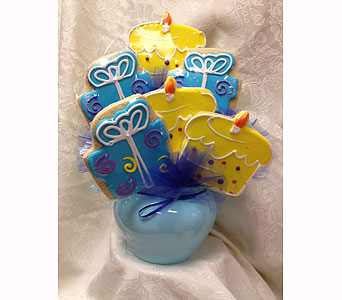 Present and Cake Cookie Bouquet in Laurel MD, Rainbow Florist & Delectables, Inc.