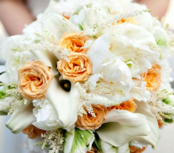 Peace & White Bridal Bouquet in Knoxville TN, The Flower Pot