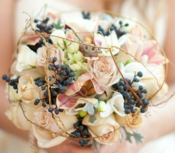 Muted Fall Bridal Bouquet in Knoxville TN, The Flower Pot