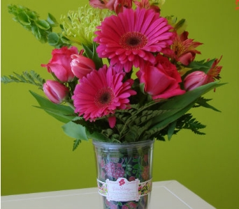 Fresh Arrangement in a Lilly Pulitzer Tumber with  in Knoxville TN, The Flower Pot