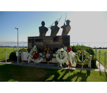 TUNAMAN''S MEMORIAL in San Diego CA, Flowers Of Point Loma